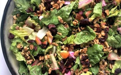 Roasted Beet Salad with Balsamic-Orange Vinaigrette and Candied Walnuts