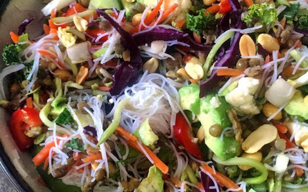 Peanut-Lime Rainbow Salad