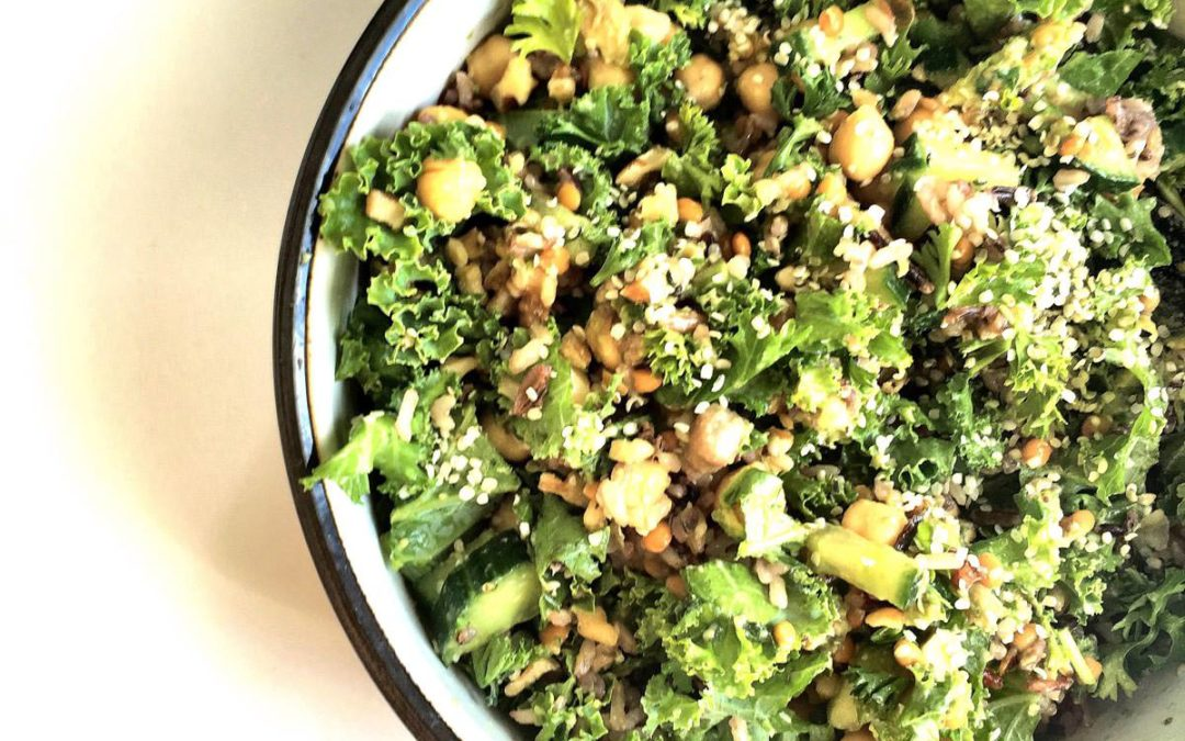 Plant Powered Avocado Kale Salad