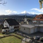 the view from my room at the Pension Alpenheim Hotel