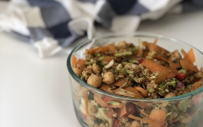 Spiced Chickpea and Carrot Salad with Ancient Grains