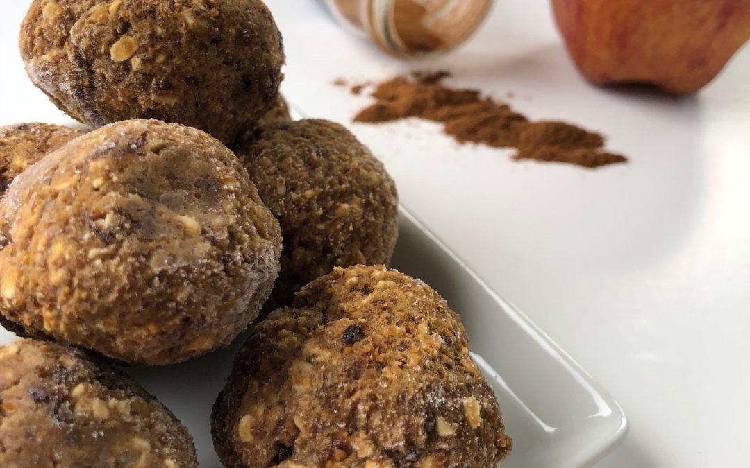 pumpkin apple spice protein bites